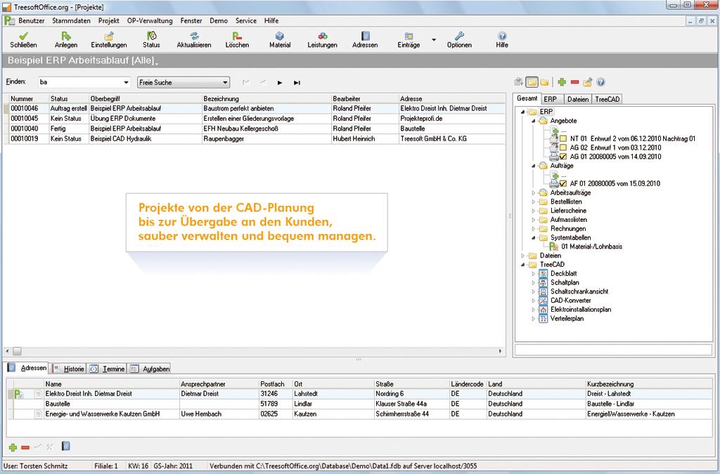 Treesoft Erp Software Mit Schwerpunkten In Der